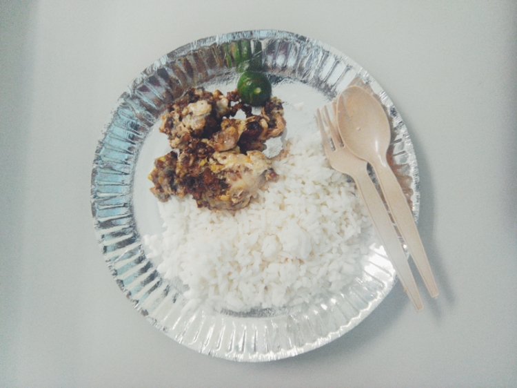 Sisig Sa Rada (PHP 50 with rice)
