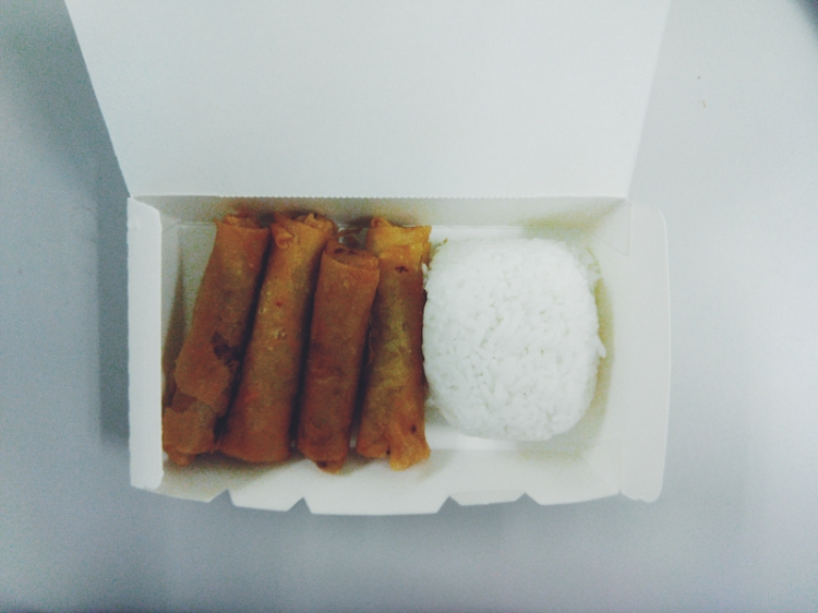 Lumpiang Shanghai (PHP 70 with rice)