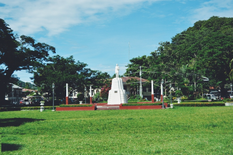 Honoring the national hero's time in the city, a statue of Rizal stands majestically in a bed of grass.