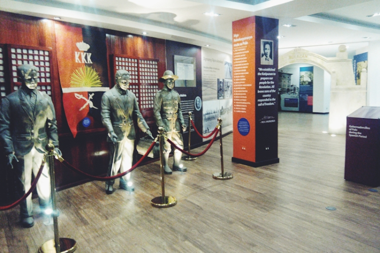 Statues of local heroes Delfin Villa, Pio Valenzuela and Tiburcio De Leon are inside the Valenzuela City Museum at the ground floor of the city hall.
