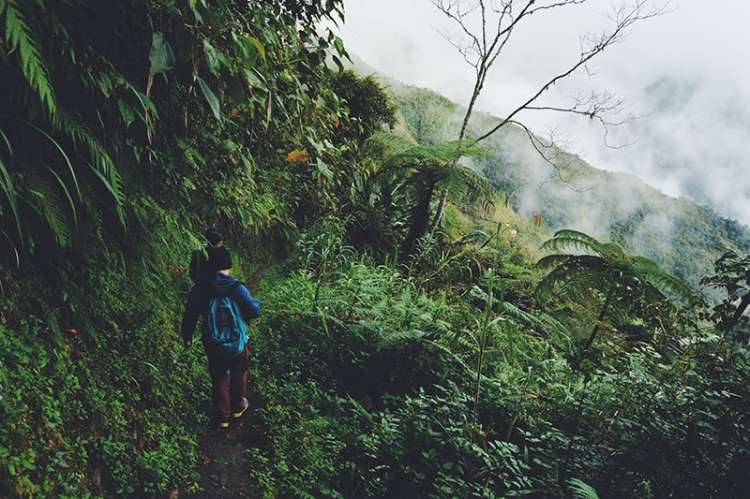 The road to Batad involves taking a walk through muddy trails and a dense forest.