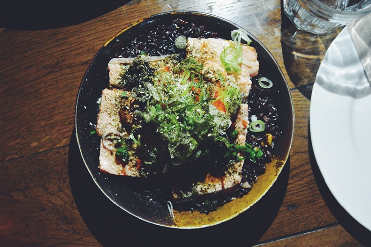Torched Salmon Donburi (PHP 390)