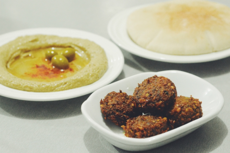 Five Balls Falafel (PHP 75) and Small Hummus (PHP 150)